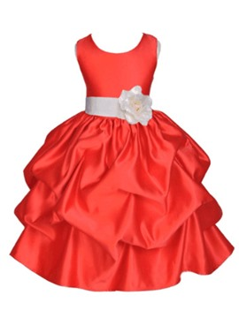 Ericdress Flower Pleated Sleeveless Girls Princess Dress