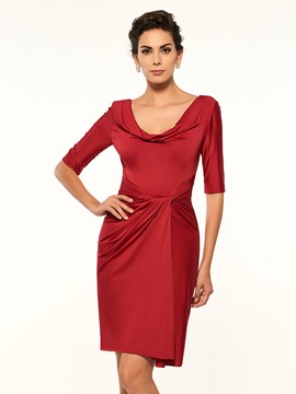 Ericdress Fancy Scoop Half Sleeves Sheath Short Mother Of The Bride Dress