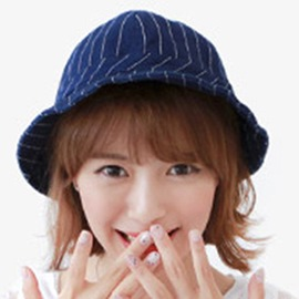 Ericdress Leisure Blue Stripe Design Bucket Hat