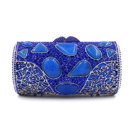 Ericdress Noble Blue Agate Cylinder Evening Clutch