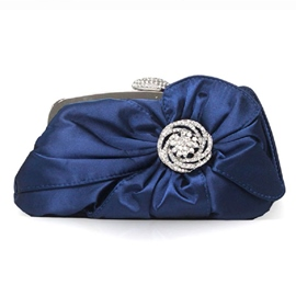 Ericdress Shiny Pure Color Diamante Evening Clutch
