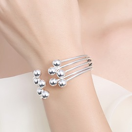 Ericdress Five Beads Design Silver Plated Bracelet