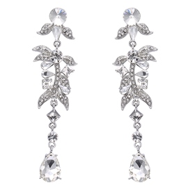 Ericdress Rhinestone Leaves Design Alloy Earrings