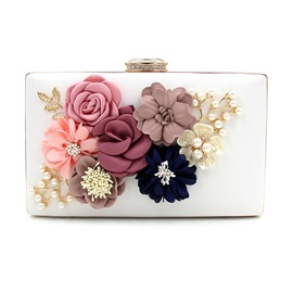 Ericdress Floral Pearl Decorated Evening Clutch
