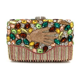 Ericdress Western Deluxe Gemstone Evening Clutch