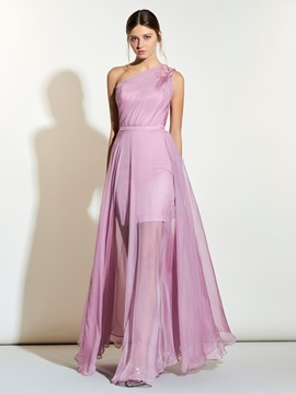 Ericdress Beautiful Appliques One Shoulder A Line Long Bridesmaid Dress