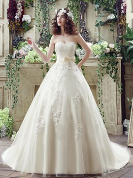 Ericdress Elegant Sweetheart Ball Gown Wedding Dress