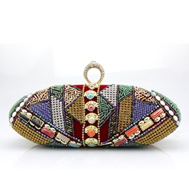 Ericdress Handmade Geometric Beaded Evening Clutch