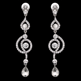 Ericdress Shining Full-Jewelled Drop Earring for Women