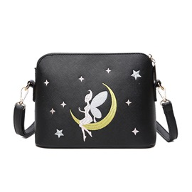 Ericdress Vintage Fairy Print Crossbody Bag