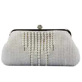 Ericdress Sweet Stripe Pearl Decorated Evening Clutch