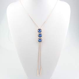 Ericdress Artificial Gems Inlaid Long Tassels Necklace