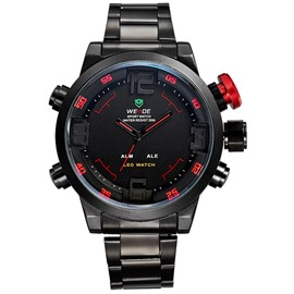 Ericdress Red Pointer Bilateral Buckle Men's Quartz Watch