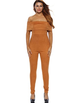 Ericdress Backless High-Waist Skinny Jumpsuits Pants