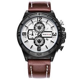 Ericdress Brown Band Pin Buckle Sports Men's Watch