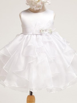 Ericdress Asymmetrical Sleeveless Mesh Tutu Girls Dress