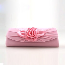 Ericdress Ladylike Rose Wrinkle Decorated Evening Clutch