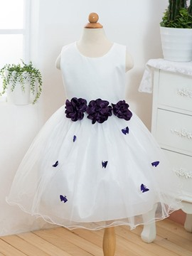Ericdress Flower Mesh Tutu Girls Princess Dress