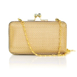 Ericdress Golden Mesh Plaid Evening Clutch