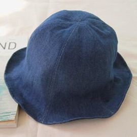 Ericdress Fashion Solid Color Denim Bucket Hat