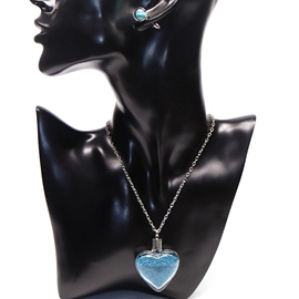 Ericdress Two Pieces Blue Quicksand Design Jewelry Set