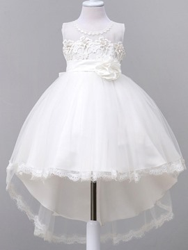 Ericdress Flower Swallowtail Sleeveless Girls Princess Dress