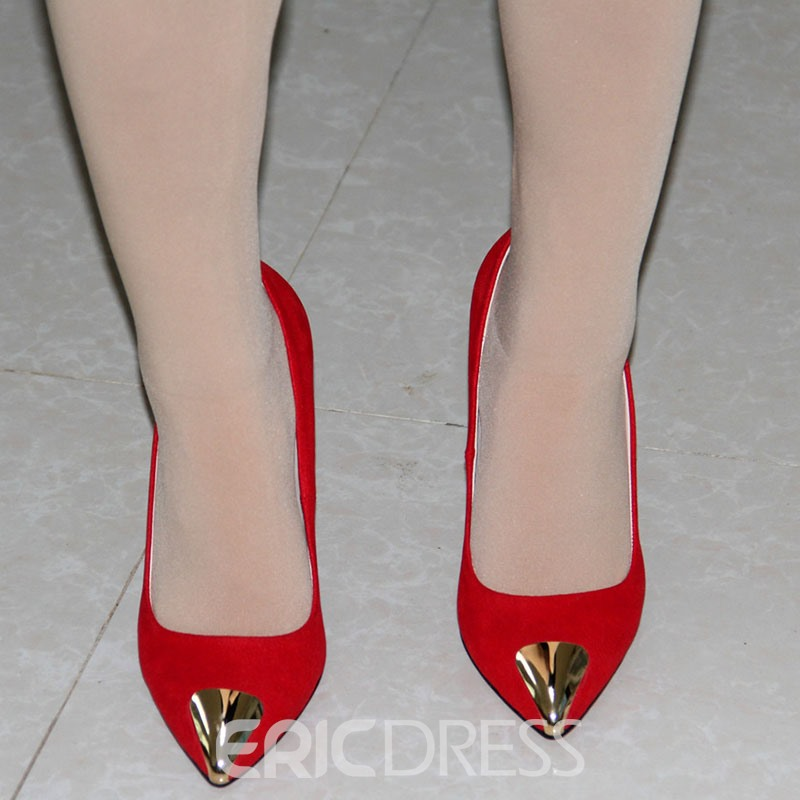 Ericdress Red Pointed Toe Ultra-High Heel Pumps