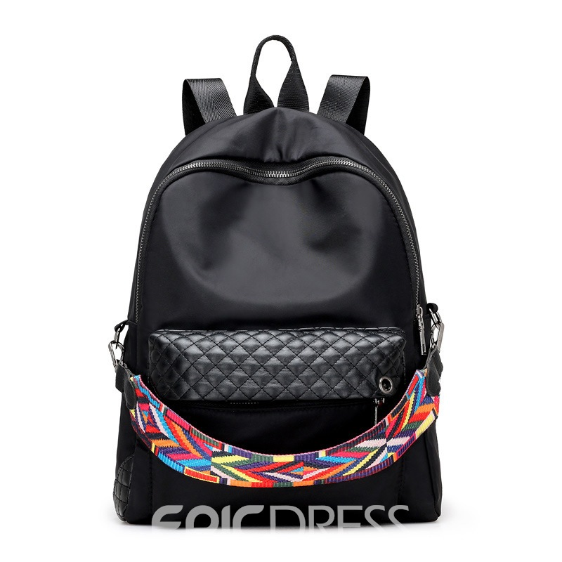 Ericdress Preppy Style Knitted Belt Decorated Backpack