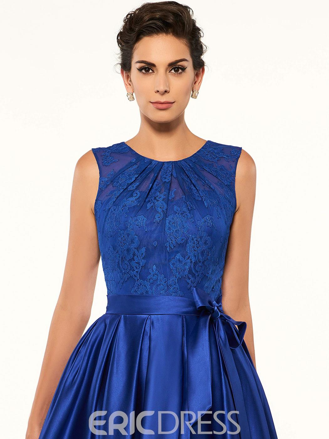 Ericdress Fancy Jewel Lace High Low A Line Mother Of The Bride Dress