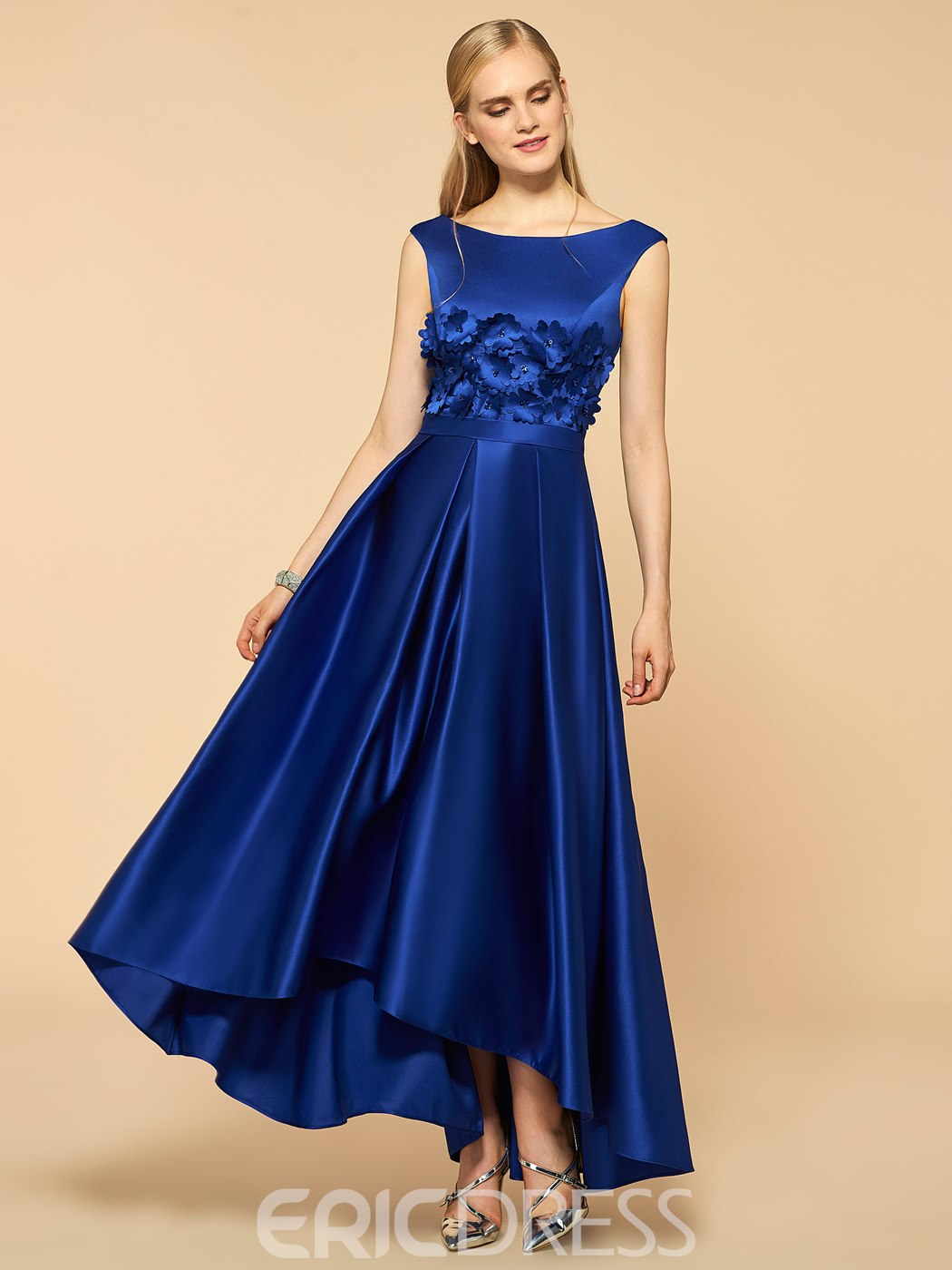 Ericdress Straps Flowers High Low Bridesmaid Dress