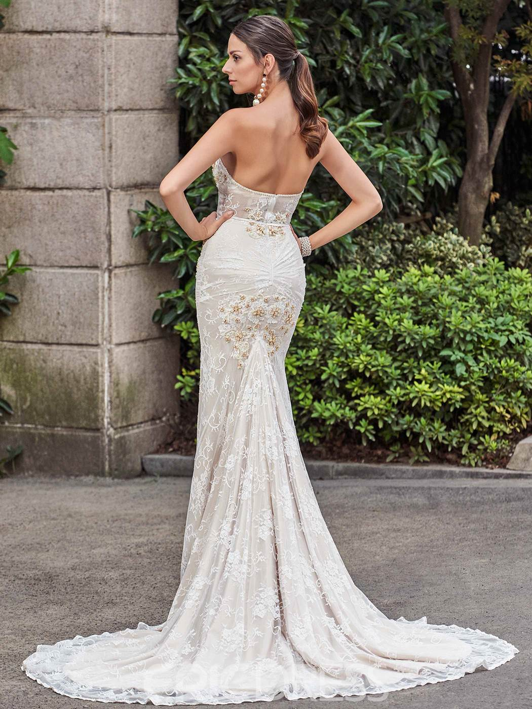 Ericdress High Quality Sweetheart Beaded Lace Mermaid Wedding Dress