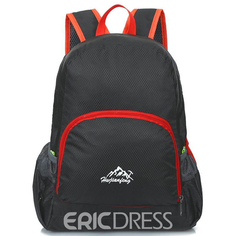 Ericdress Lightweight Solid Color Outdoor Backpack