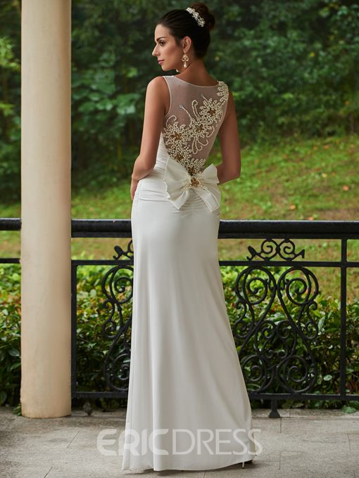 Ericdress High Quality Pearls Sheath Wedding Dress