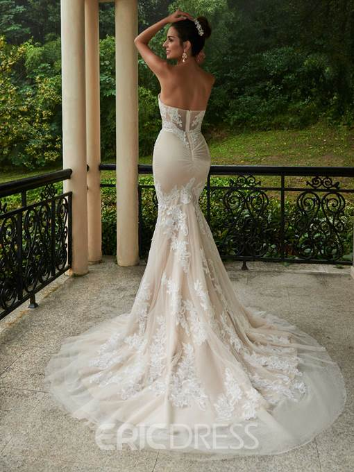 Ericdress Sweetheart Neckline Lace Mermaid Wedding Dress