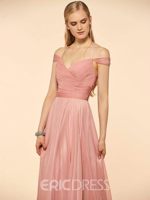 Ericdress Off The Shoulder A Line Long Bridesmaid Dress