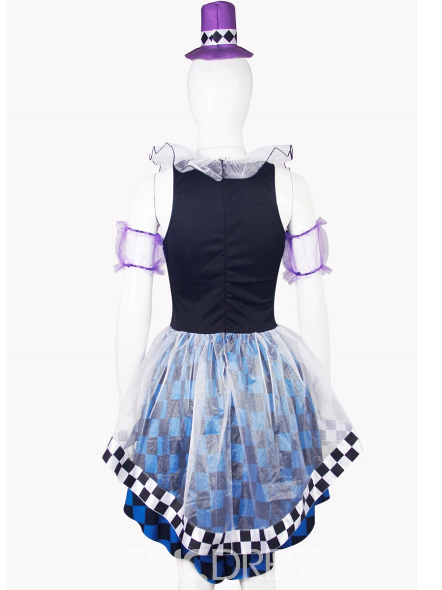 Ericdress Fancy V-Neck Color Block Patchwork Swallowtail Costume