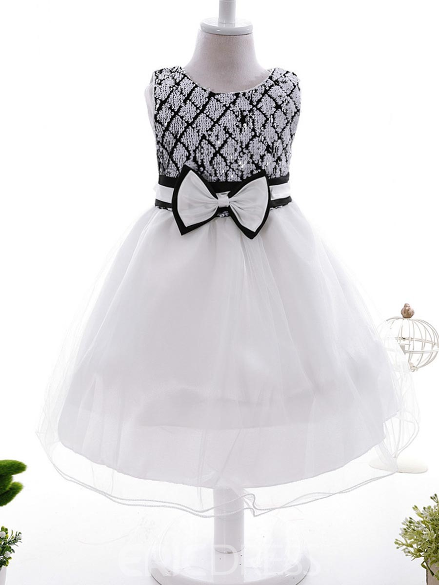 Ericdress Sequins Bow Tutu Girls Dress
