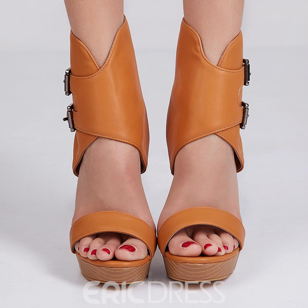 Ericdress Ankle Wrap Buckles Stiletto Sandals