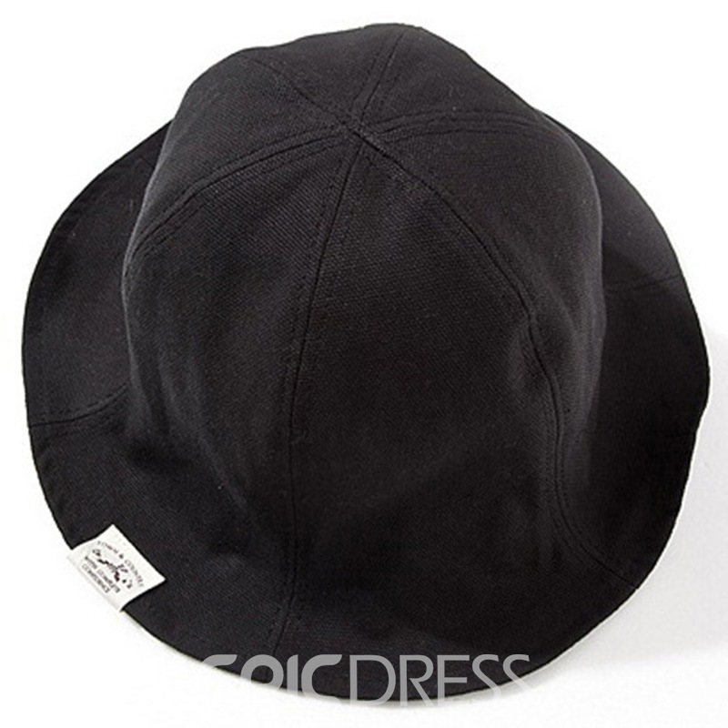 Ericdress Solid Color Roll Brim Design Hat