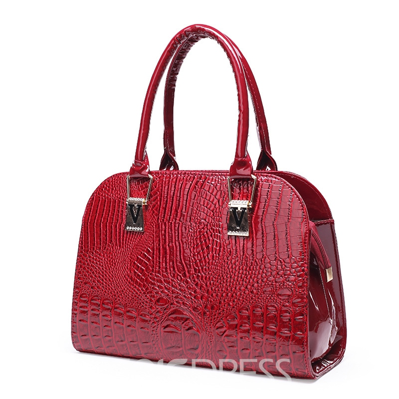 Ericdress Elegant Plain Pattern Motorcycle Handbag
