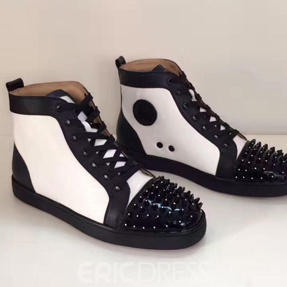 Ericdress Rivet Color Block High-Cut Men's Sneakers