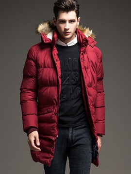 Ericdress Mid-Length Thicken Warm Men's Winter Coat