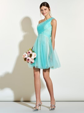 Ericdress Classic One Shoulder A Line Short Bridesmaid Dress