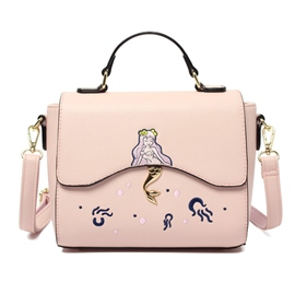Ericdress Simple Cartoon Mermaid Embroidery Handbag