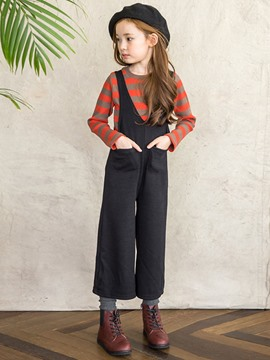 Ericdress Fashion Wide Legs suspender And Straip Sweater Girls Outfit