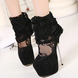 Ericdress Platform Lace Ultra High Boots