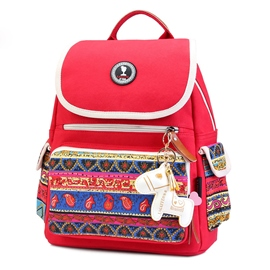 Ericdress Ethnic Color Block Travel Backpack