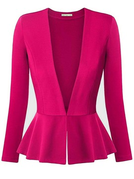 Ericdress V-Neck Slim Solid Color Blazer