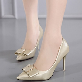 Ericdress OL Bowtie Point Toe Stiletto Heel Pumps