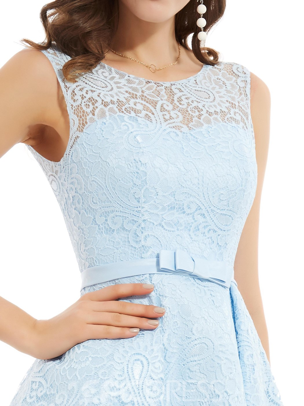 Ericdress Scoop Neck Lace A Line Homecoming Dress